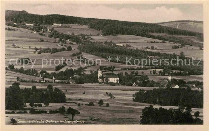 AK / Ansichtskarte Giehren Isergebirge Panorama Kat. Tschechische Republik