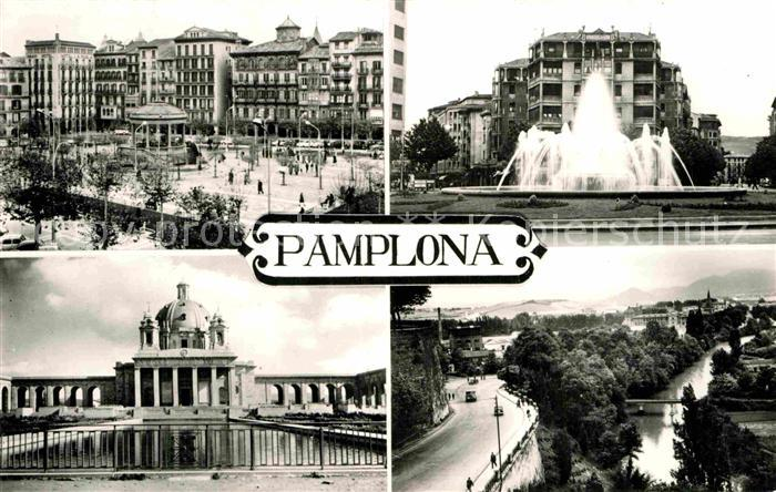 AK / Ansichtskarte Pamplona Navarra Brunnen Kat. Pamplona
