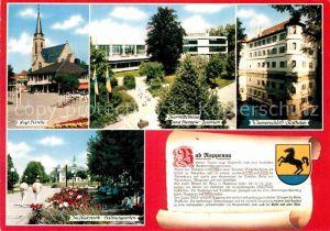 AK / Ansichtskarte Bad Rappenau Ev Kirche Kurmittelhaus Wasserschloss Rathaus Kurpark Salinengarten Kat. Bad Rappenau