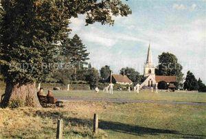 AK / Ansichtskarte Brockham View with a cricket match in progress