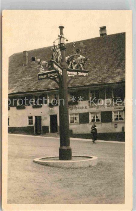 AK / Ansichtskarte Titisee Wegweiser Kat. Titisee Neustadt