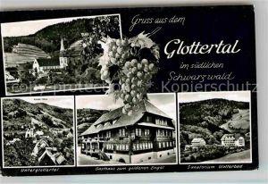 AK / Ansichtskarte Glottertal Gasthaus zum goldenen Engel Glotterbad Unterglottertal Kirche Kat. Glottertal Schwarzwald