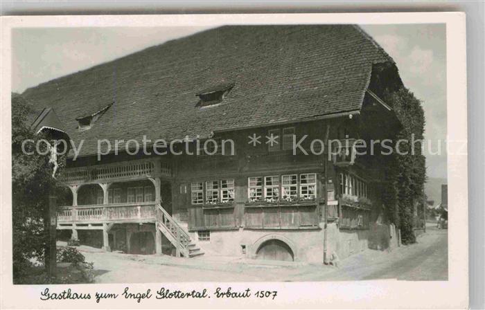 AK / Ansichtskarte Glottertal Gasthaus zum Engel Kat. Glottertal Schwarzwald