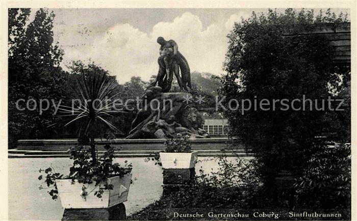 AK / Ansichtskarte Coburg Sintflutbrunnen Gartenschau Kat. Coburg