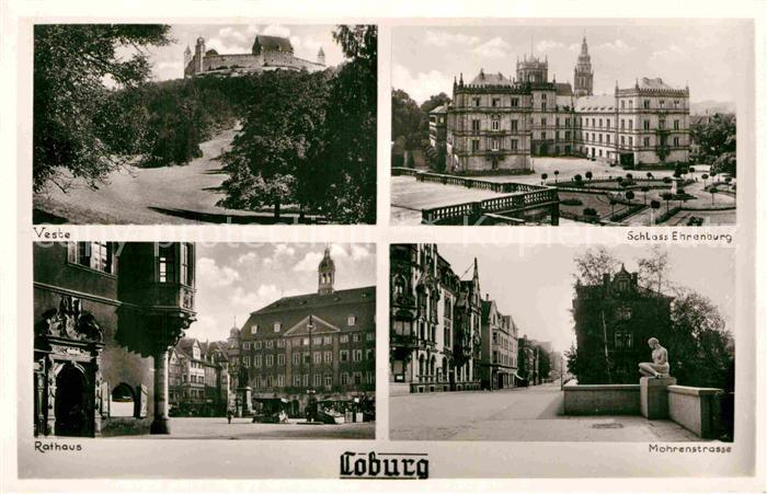 AK / Ansichtskarte Coburg Schloss Ehrenburg Rathaus Mohrenstrasse Veste Kat. Coburg