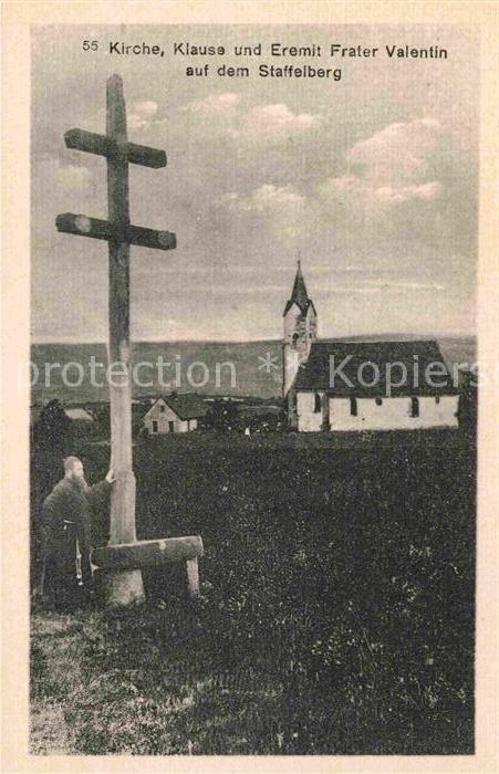 AK / Ansichtskarte Staffelberg Kirche Klause Eremit Frater Valentin Kat. Bad Staffelstein