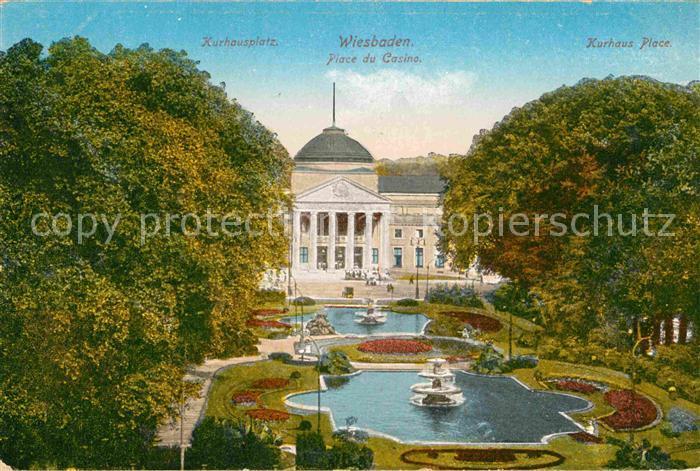 AK / Ansichtskarte Wiesbaden Kurhausplatz Casino  Kat. Wiesbaden