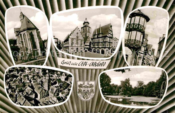 AK / Ansichtskarte Alsfeld Altstadt Rathaus Schwanenteich Kat. Alsfeld