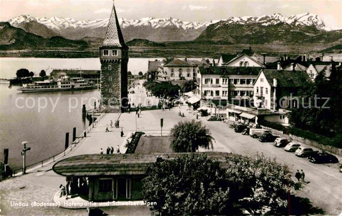 AK / Ansichtskarte Lindau Bodensee Hafenpartie Kat. Lindau (Bodensee)
