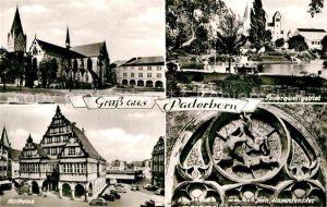 AK / Ansichtskarte Paderborn Paderquellgebiet Dom Hasenfenster Rathaus  Kat. Paderborn