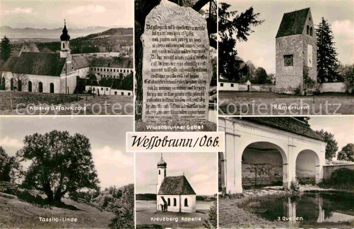 AK / Ansichtskarte Wessobrunn Kloster Pfarrkirche Kreuzberg Kapelle Kat. Wessobrunn