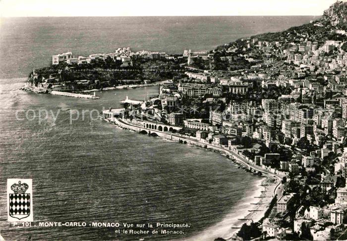 AK / Ansichtskarte Monte Carlo Vue sur Principaute et le Rocher de Monaco Kat. Monte Carlo