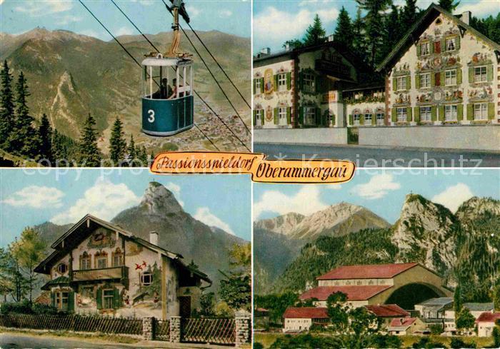 AK / Ansichtskarte Oberammergau Bergbahn zum Laber Haensel und Gretel Heim Rotkaeppchen Haus Passionsspielhaus Kat. Oberammergau