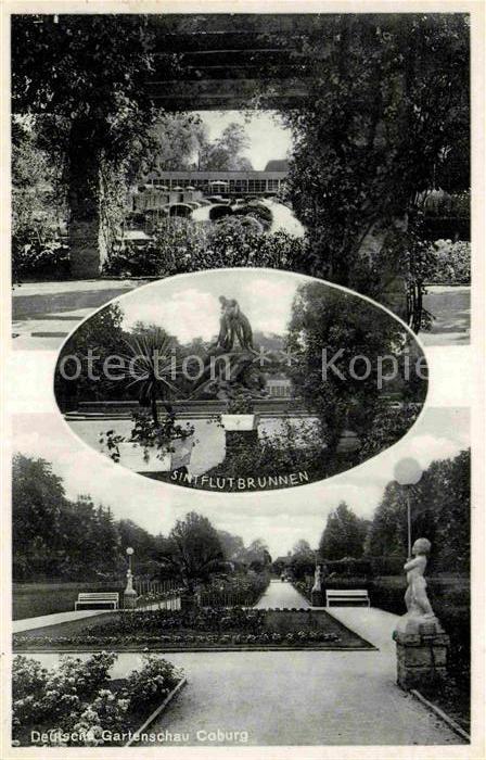 AK / Ansichtskarte Coburg Dt Gartenschau Sintflutbrunnen Kat. Coburg