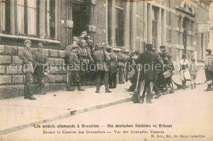 AK / Ansichtskarte Bruxelles Bruessel Soldats allemands Caserne des Grenadiers  Kat.