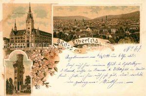 AK / Ansichtskarte Elberfeld Wuppertal Neues Rathaus Von der Heydt Turm Litho  Kat. Wuppertal