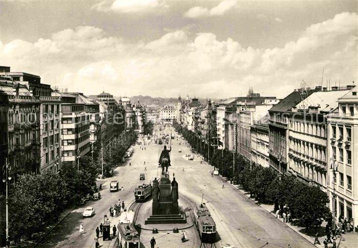 AK / Ansichtskarte Praha Prahy Prague Vaclavske namesti Wenzelsplatz Denkmal Kat. Praha