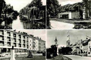 AK / Ansichtskarte Bekescsaba Teilansichten Partie am Fluss Denkmal Kirche Kat. Ungarn