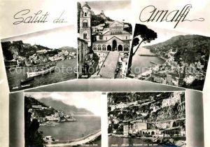 AK / Ansichtskarte Amalfi Kathedrale Hafen Bucht Panorama Kueste Kat. Amalfi