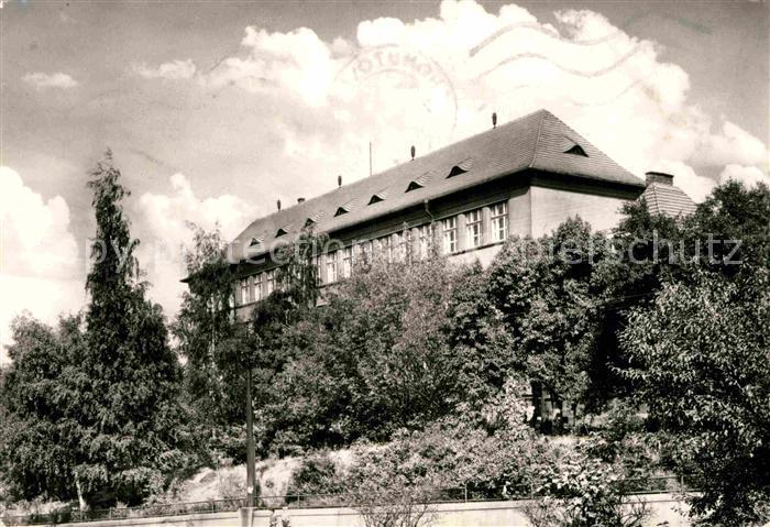 AK / Ansichtskarte Chomutov Stredni vseobecne vzdelavaci skola Gymnasium Kat. Komotau