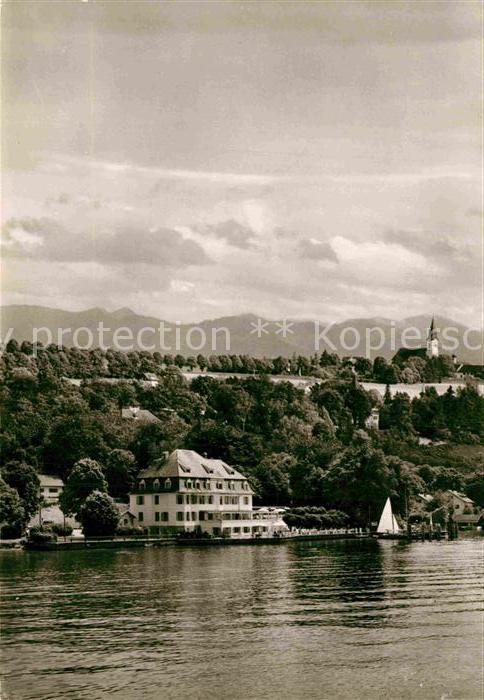 AK / Ansichtskarte Berg Starnberg Strandhotel Schloss Berg am Starnberger See Kat. Berg