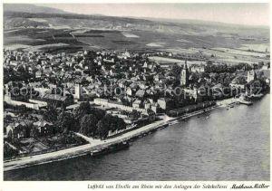 AK / Ansichtskarte Eltville Rhein mit den Anlagen der Sektkellerei Matheus Mueller Luftbild Kat. Eltville am Rhein