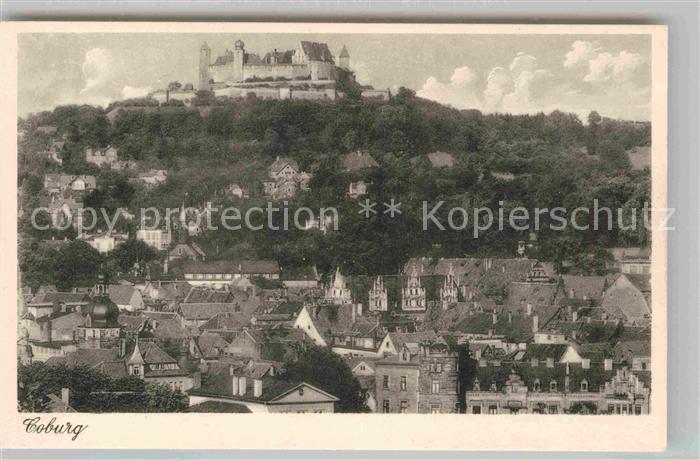AK / Ansichtskarte Coburg Teilansicht mit Schloss Kat. Coburg