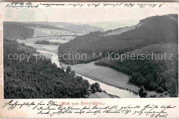 AK / Ansichtskarte Ebersdorf Kronach Blick vom Heinrichstein Kat. Ludwigsstadt