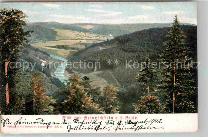 AK / Ansichtskarte Ebersdorf Kronach Blick vom Heinrichstein mit Saale Kat. Ludwigsstadt