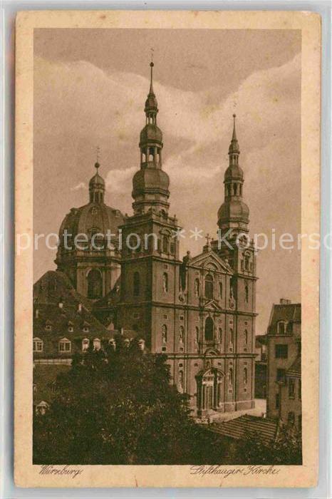 AK / Ansichtskarte Wuerzburg Stift Hauger Kirche Kat. Wuerzburg