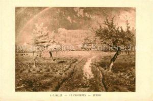 AK / Ansichtskarte Millet Jean Francois Le Printemps Fruehling