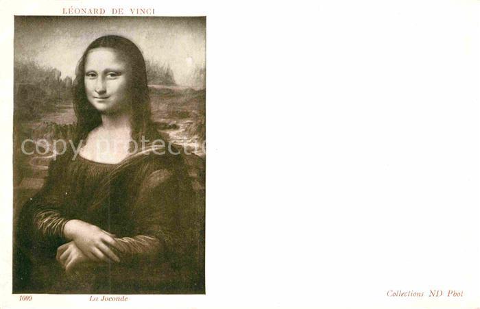 AK / Ansichtskarte Leonardo Da Vinci La Joconde  Kat. Persoenlichkeiten