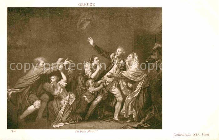 AK / Ansichtskarte Kuenstlerkarte Alte Kuenstler Jean Baptiste Greuze Le Fils Maudit  Kat. Kuenstlerkarte