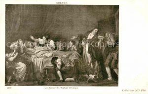 AK / Ansichtskarte Kuenstlerkarte Alte Kuenstler Jean Baptiste Greuze Le Retour de l Enfant Prodigue  Kat. Kuenstlerkarte