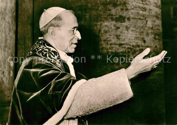 AK / Ansichtskarte Papst Pius XII.  Kat. Religion