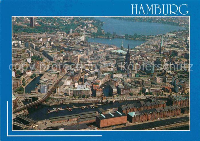 AK / Ansichtskarte Hamburg Speicher Hafen Binnen  Aussenalster  Kat. Hamburg