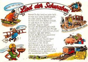 AK / Ansichtskarte Liederkarte Lied der Schwaben  Kat. Musik