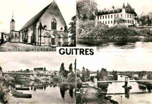 AK / Ansichtskarte Guitres Kirche Bruecke Gironde Kat. Guitres