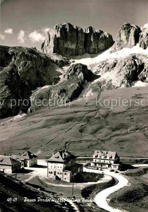 AK / Ansichtskarte Passo Pordoi Cima Pordoi Dolomiti Kat. Italien