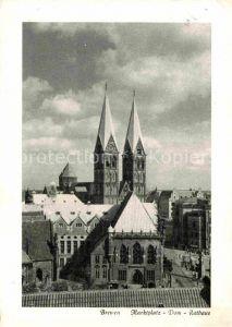 AK / Ansichtskarte Bremen Marktplatz Dom Rathaus Kat. Bremen