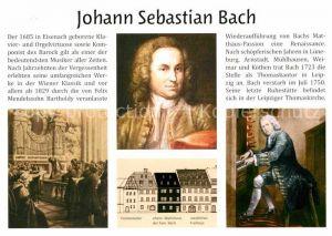 AK / Ansichtskarte Bach Johann Sebastian Rekonstrutionsskizze Wohnhaus  Kat. Komponist