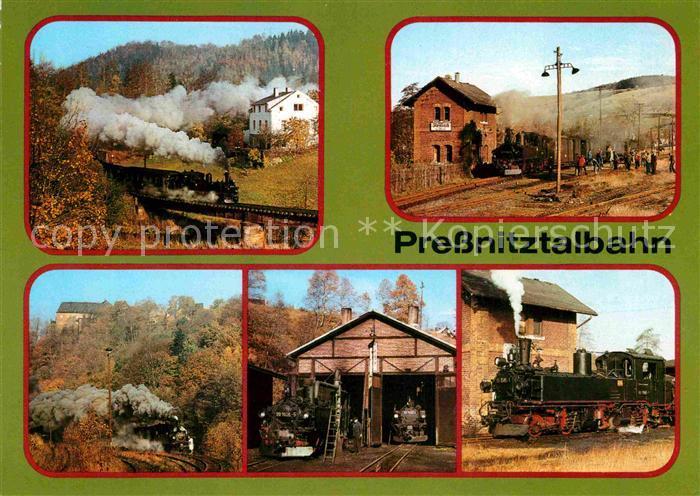 AK / Ansichtskarte Lokomotive Pressnitztalbahn Schmalspurbahn Wolkenstein Joehstadt  Kat. Eisenbahn