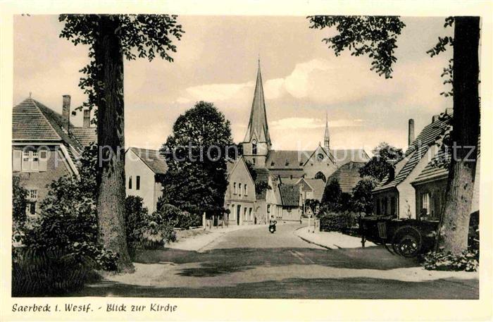 AK / Ansichtskarte Saerbeck Dorfstrasse Kirche Kat. Saerbeck