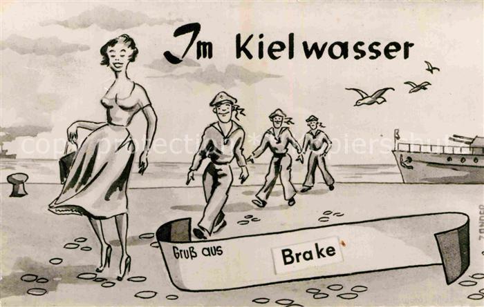 AK / Ansichtskarte Brake Unterweser Karikatur Kat. Brake (Unterweser)
