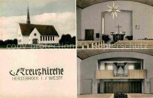 AK / Ansichtskarte Herzebrock Kreuzkirche Inneres Orgel Kat. Herzebrock Clarholz