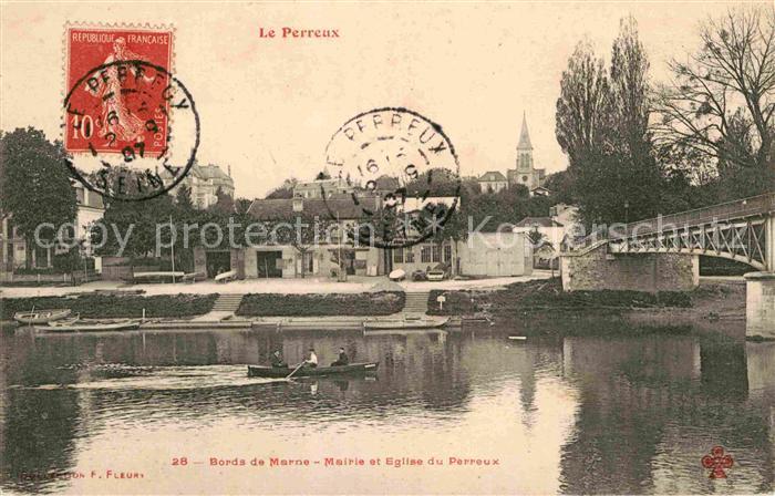 AK / Ansichtskarte Le Perreux sur Marne Mairie et Eglise du Perreux Kat. Le Perreux sur Marne
