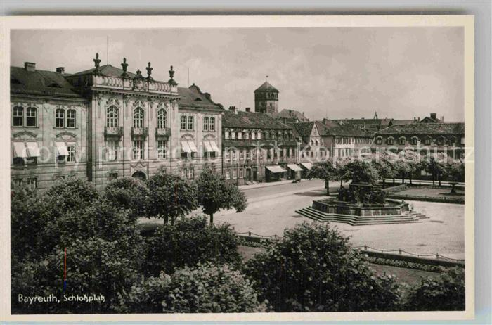 AK / Ansichtskarte Bayreuth Schlossplatz Kat. Bayreuth