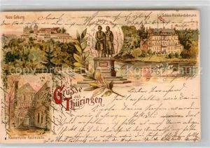 AK / Ansichtskarte Coburg Festung Goethe und Schiller Denkmal  Kat. Coburg