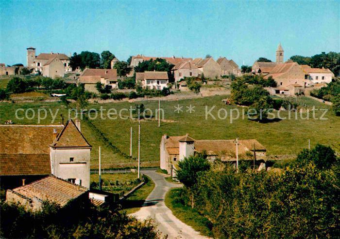 AK / Ansichtskarte Taize Saone et Loire Village avec eglise romane XIIe siecle Kat. Taize