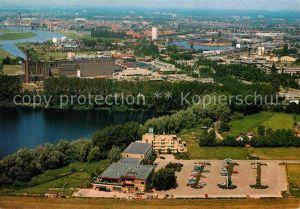 AK / Ansichtskarte Deventer Fliegeraufnahme Postiljon Motel Deventer Kat. Deventer
